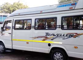 10+1 seater deluxe 1x1 tempo traveller