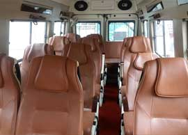 16 seater tempo traveller hire