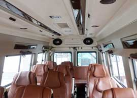 17 seater tempo traveller hire delhi noida gurgaon india