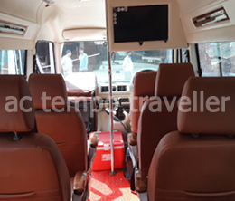 6 1x1 seats with bed seating tempo traveller - ATT