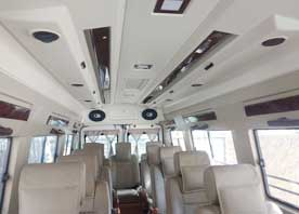 same day agra taj mahal tour packages by 12 seater deluxe 1x1 tempo traveller
